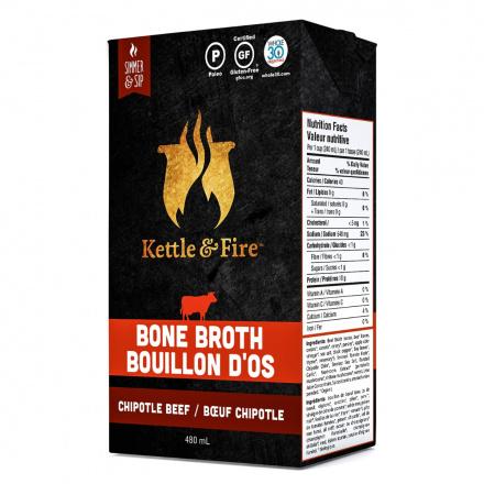Kettle & Fire Beef Bone Broth Chipotle, 480ml
