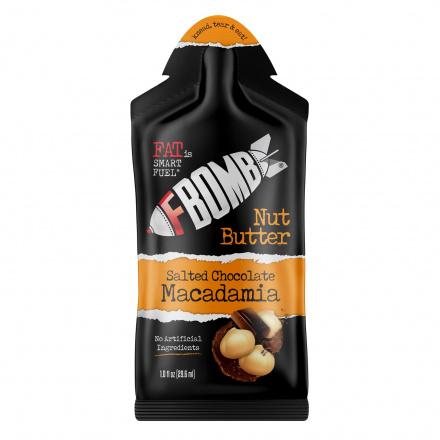 FBomb Salted Chocolate Macadamia Nut Butter, 29ml