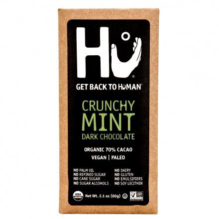 Hu Crunchy Mint Dark Chocolate Bar, 60g