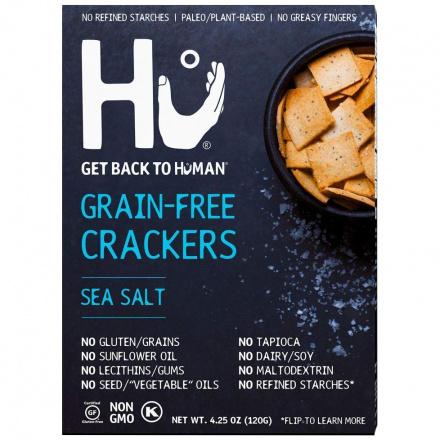 Hu Grain-Free Crackers Sea Salt, 120g