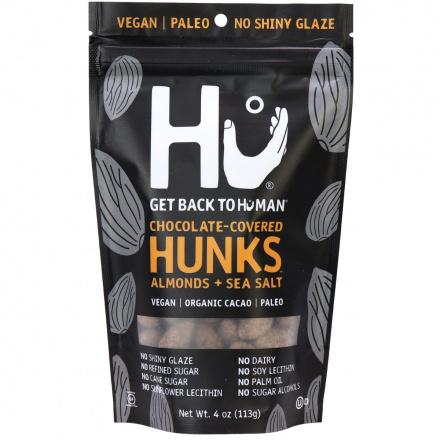 Hu Dark Chocolate Covered Almonds + Sea Salt Hunks, 113g