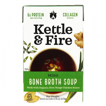 Kettle & Fire Miso Bone Broth Soup, 479g