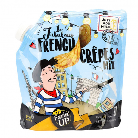 Farin' UP Le Fabulous French Crepes Mix, 600g