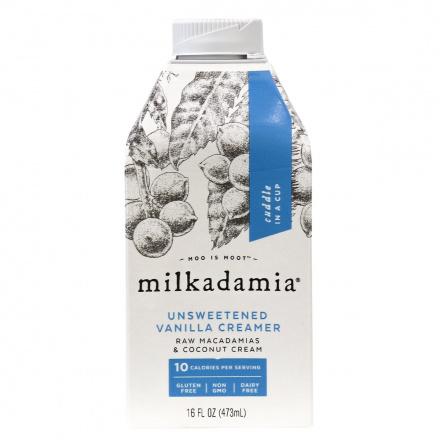 Milkadamia Unsweetened Vanilla Creamer, 473 mL