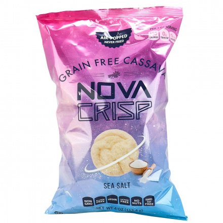 Nova Crisp Grain-Free Cassava Chips Sea Salt, 113.4g
