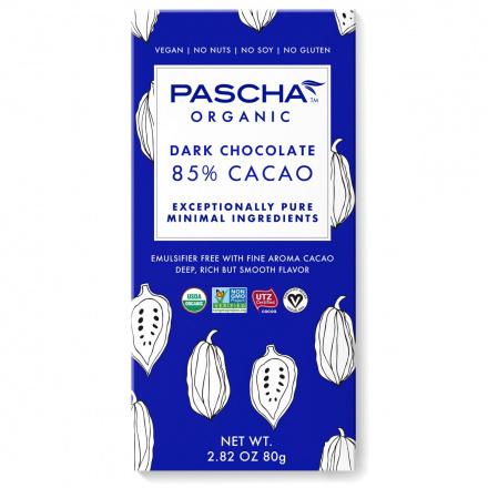 Pascha 85% Cacao Organic Dark Chocolate, 80g
