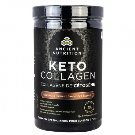 Ancient Nutrition Keto Collagen Peptides with MCT - Chocolate, 374g