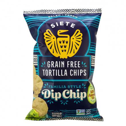 Siete Dippable Round Grain-Free Tortilla Chips, 142g