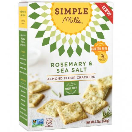 Simple Mills Rosemary & Sea Salt Almond Flour Crackers, 120g