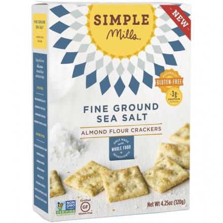 Simple Mills Fine Ground Sea Salt Almond Flour Crackers, 120g