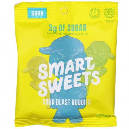 SmartSweets Plant-Based Low Sugar Sour Blast Buddies, 50g