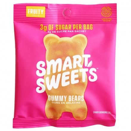 SmartSweets Fruity Low Sugar Gummy Bears, 50g