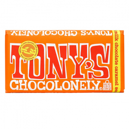 Tony's Chocolonely Milk Chocolate Caramel Sea Salt, 180g