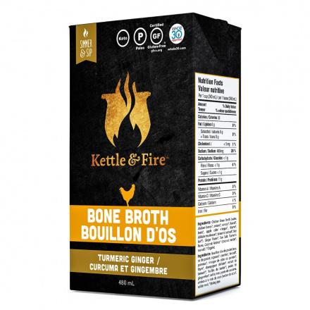 Kettle & Fire Chicken Bone Broth Turmeric Ginger, 480ml