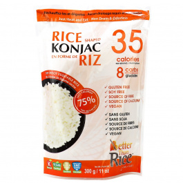 Better Than Foods Non Drain & Odorless Konjac Shaped Rice, 300g
