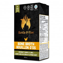 Kettle & Fire Chicken Bone Broth Coconut Curry & Lime, 480ml
