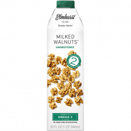 Elmhurst Unsweetened Walnut Milk, 946ml
