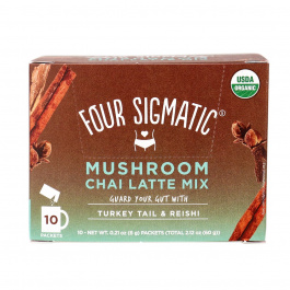Four Sigmatic Mushroom Chai Latte Mix with Turkey Tail & Reishi - 10 Packets
