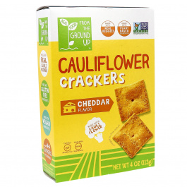 From The Ground UP Cheddar Cauliflower Crackers, 113g