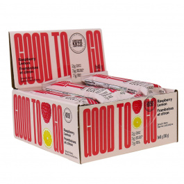 GOOD TO GO Keto Snack Bars Raspberry Lemon, 9 Bar Pack
