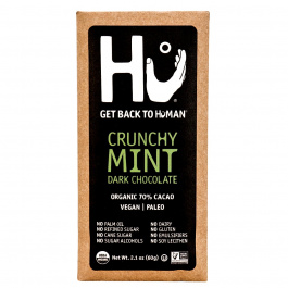 Hu Crunchy Mint Dark Chocolate Bar, 60g