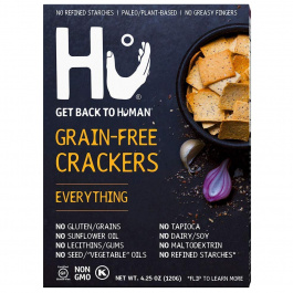 Hu Grain Free Crackers Everything, 120g