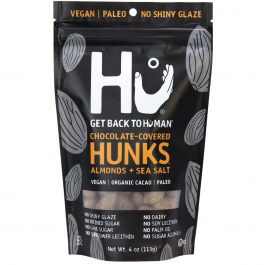 Hu Dark Chocolate Covered Almonds + Sea Salt Hunks, 113g