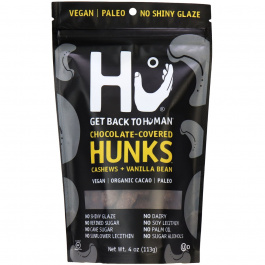 Hu Dark Chocolate Covered Cashews + Vanilla Bean Hunks, 113g