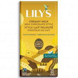 Lily's Stevia Sweetened 40% Chocolate Creamy Milk, 85g