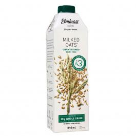 Elmhurst Unsweetened Oat Milk, 946ml