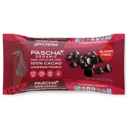 Pascha Chocolate Chips Unsweetened, 250g