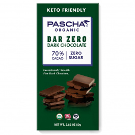 Pascha Bar Zero 70% Cacao Dark Chocolate, 80g