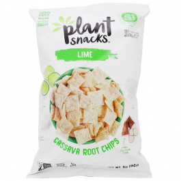 Plant Snacks Lime Cassava Root Chips, 142g