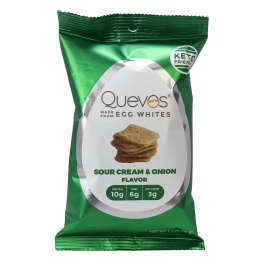 Quevos Keto Egg White Chips Sour Cream & Onion, 31g