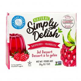 Simply Delish Sugar Free Raspberry Jel Dessert, 20g