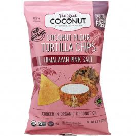 The Real Coconut Pink Salt Coconut Flour Tortilla Chips, 155g
