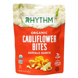 Rhythm Superfoods Organic Cauliflower Bites Buffalo Ranch, 40g