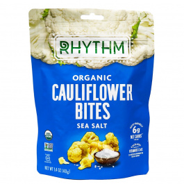 Rhythm Superfoods Organic Cauliflower Bites Sea Salt, 40g