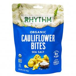 Rhythm Superfoods Organic Cauliflower Bites Sea Salt, 40g