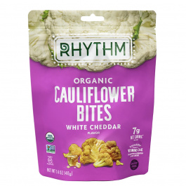 Rhythm Superfoods Organic Cauliflower Bites White Cheddar, 40g