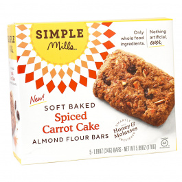 Simple Mills Spiced Carrot Cake Soft Baked Almond Flour Bars, 5 Bars