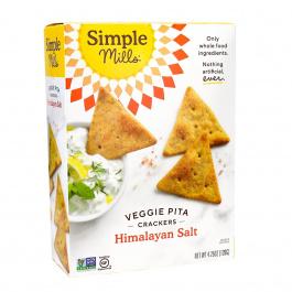Simple Mills Veggie Pita Crackers, Himalayan Salt, 120g