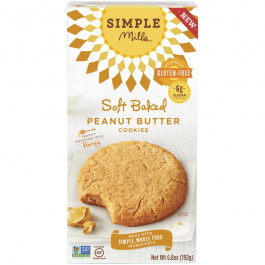 Simple Mills Soft Baked Peanut Butter Cookies, 192g