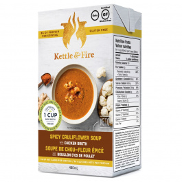 Kettle & Fire Spicy Cauliflower Keto Soup With Chicken Bone Broth, 479g