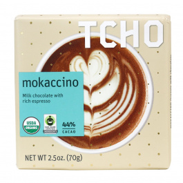 TCHO Mokaccino Milk Chocolate Bar, 70g