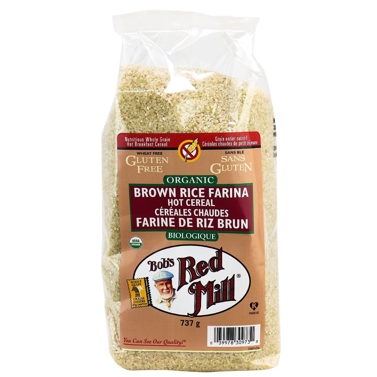 Bob's Red Mill Organic Brown Rice Farina Hot Cereal in ...