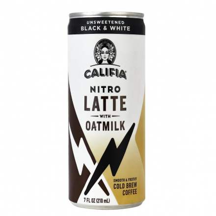Califia Farms Nitro Latte with Oatmilk Unsweetened Black & White, 210ml