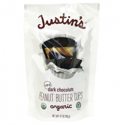 Justin's Mini Dark Chocolate Peanut Butter Cups, 133g