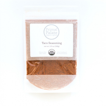 Primal Palate Organic Taco Seasoning, 168g