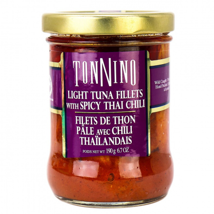 Tonnino Light Tuna Fillets with Spicy Thai Chili, 190g